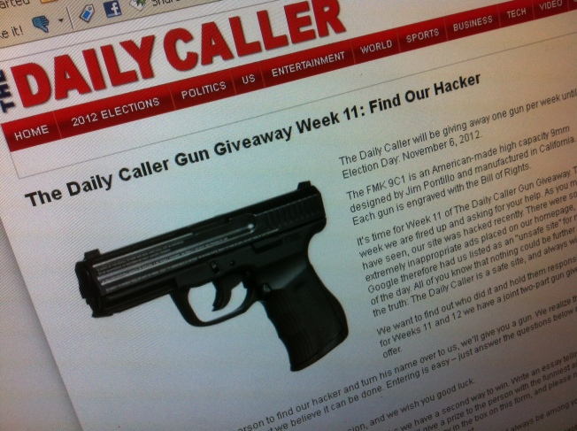 The Daily Caller Giving Away Guns