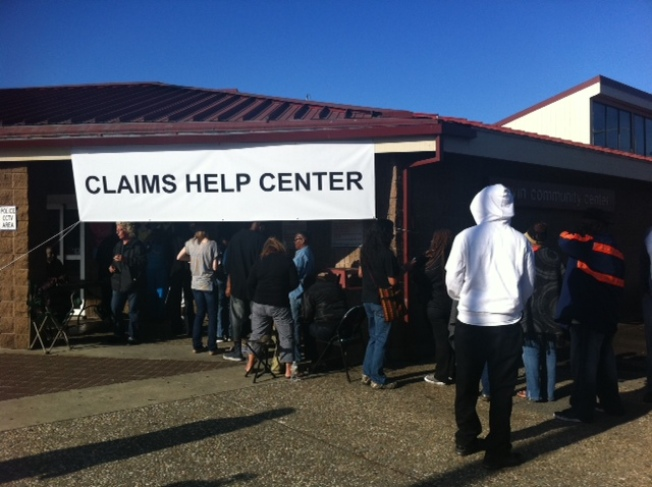 Long Lines At Chevron's Help Center