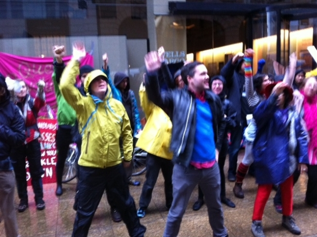 Rain Doesn't Stop Occupy SF Day of Action