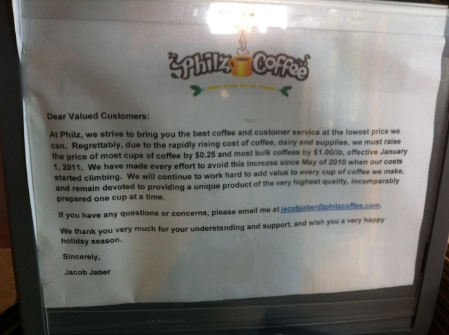 Philz Coffee Raising Prices for the New Year
