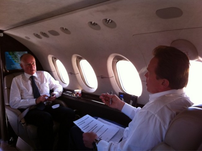 Jerry Brown Flies Coach With the People