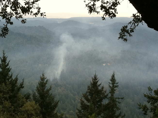 Cal Fire Gets Handle of Santa Cruz Brush Fire