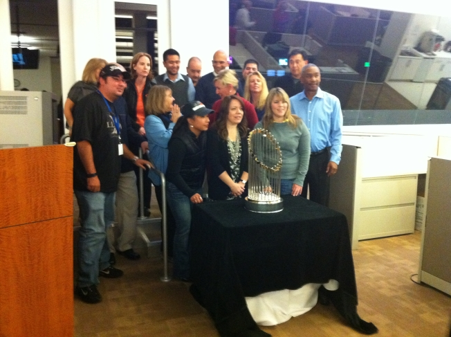 World Series Trophy Makes Stop at NBC Bay Area