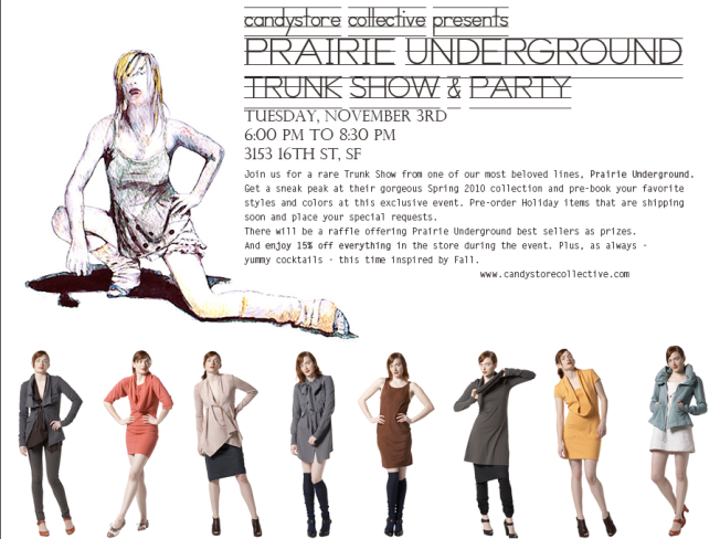 Prarie Underground Trunk Show & Party Tonight