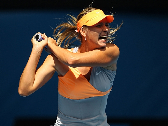 Sharapova Wins Opener at Australian Open