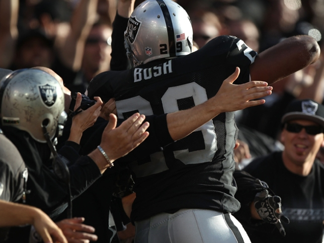 Raiders' Bush May Play Sunday