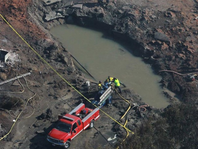 Massive Crater Left in Wake of Gas Pipe Explosion