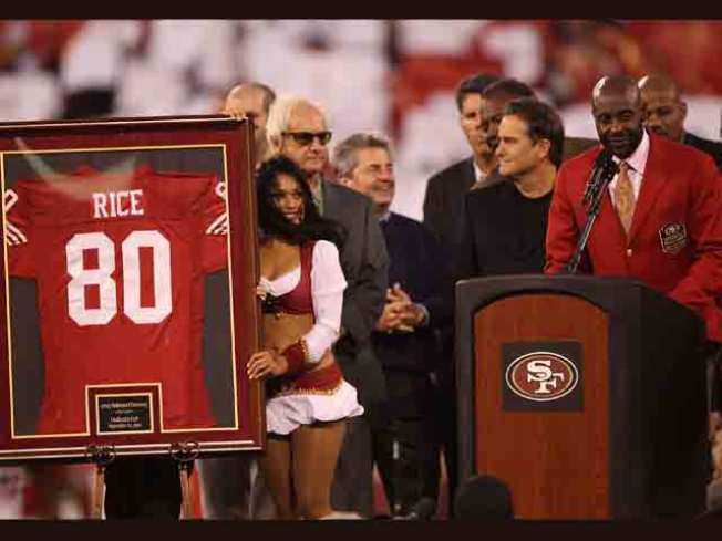 Jerry Rice Embraces Monday Night Honor