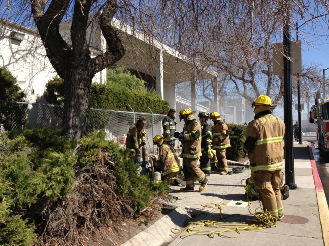 Old KNTV Studio Goes Up in Smoke