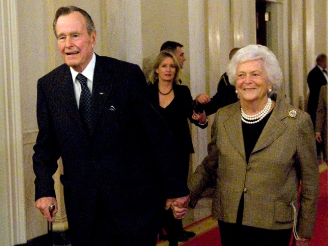 NBC: Barbara Bush hospitalized in Houston