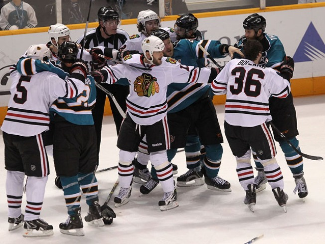 Sharks Still Snapping After Hawks' Record Win