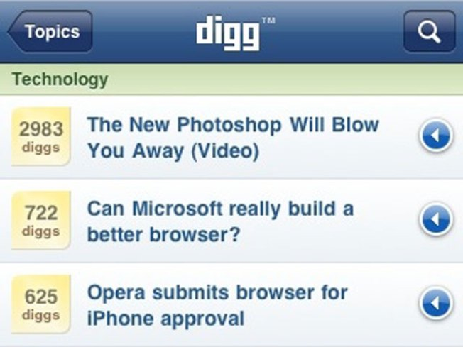 Digg Digs Down Staff