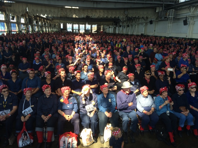 Thousands of Women Dressed as Rosie the Riveter Break Guinness World Record