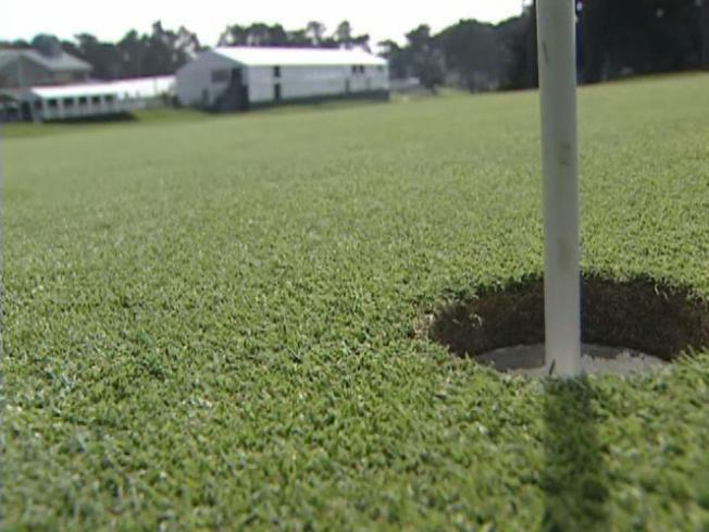 Pro Golfers Swing Into SF