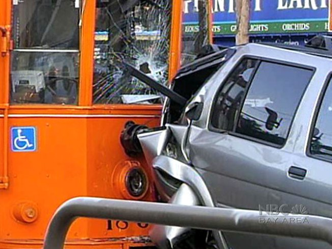 Distracted Muni Driver Crashes Into SUV: Witness