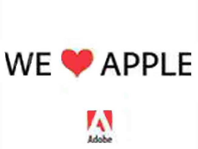 "Adobe Shows ""Love"" for Apple"
