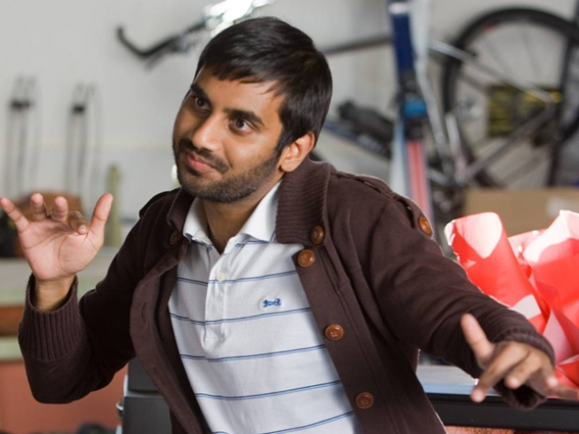 """Parks & Recreation"" Star Aziz Ansari Digs In As MTV Movie Awards Host"