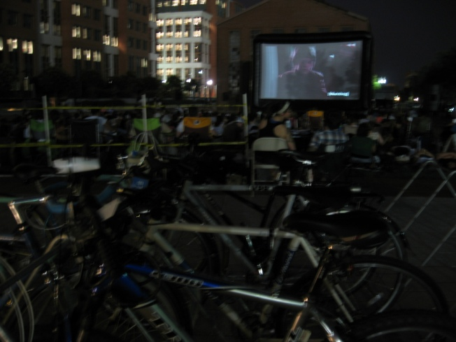 Earth Friendly Workers Rewarded With Bike-In Movie