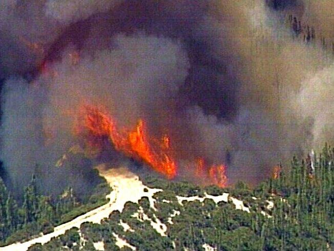 Santa Cruz Mountain Wildfire Rages