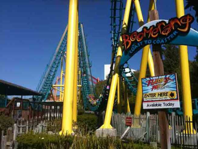 Six Flags Thrill Seekers Get Stuck on Boomerang