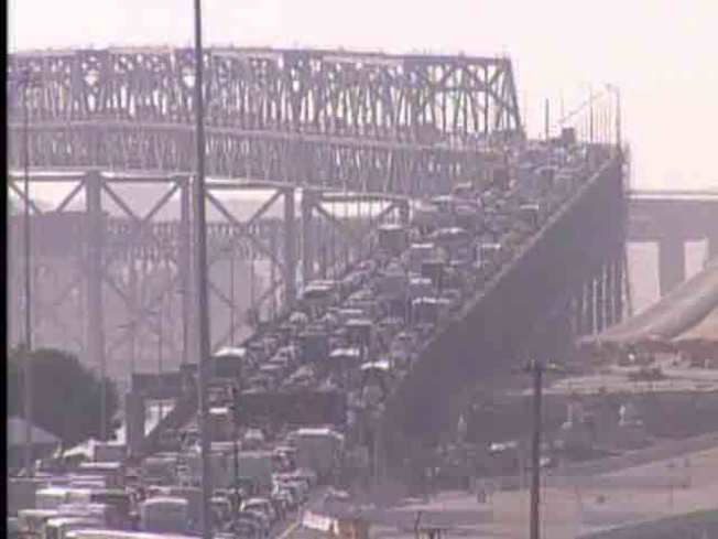 Overturned Truck Wrecks Bay Bridge Commute