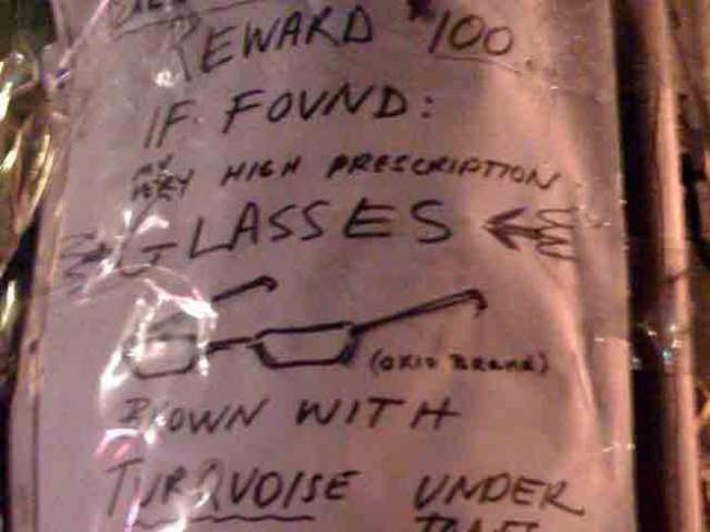 Craig Didn't Trust His Own List in Effort to Find Missing Glasses