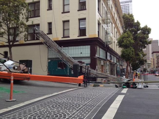 Crane Falls In SF's Tenderloin, No Injuries