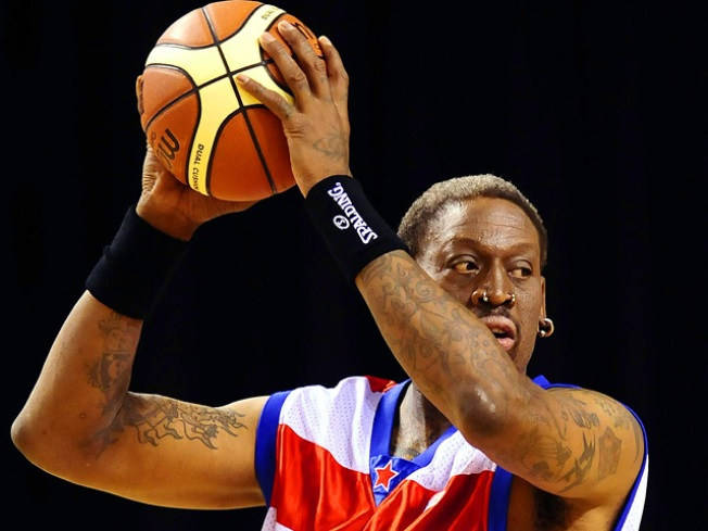 Dennis Rodman Escapes Injury After SUV Flips