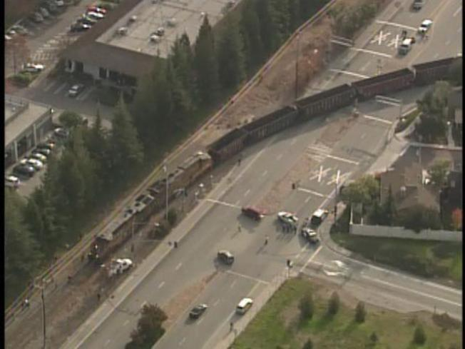 Freight Train Derails in Los Gatos