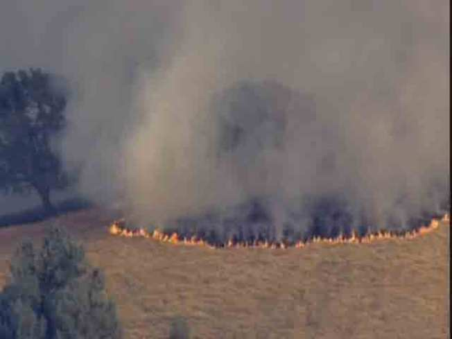 Brush Fire Burns Near Mt. Diablo