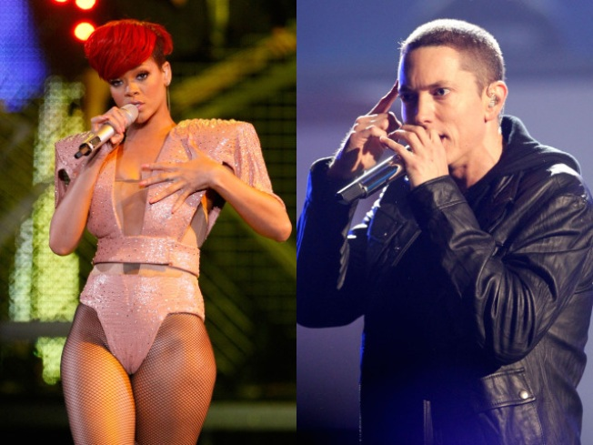Eminem and Rihanna Top Pop Charts Together