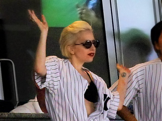 Lady Gaga Welcome in Yankee Clubhouse - If They Win