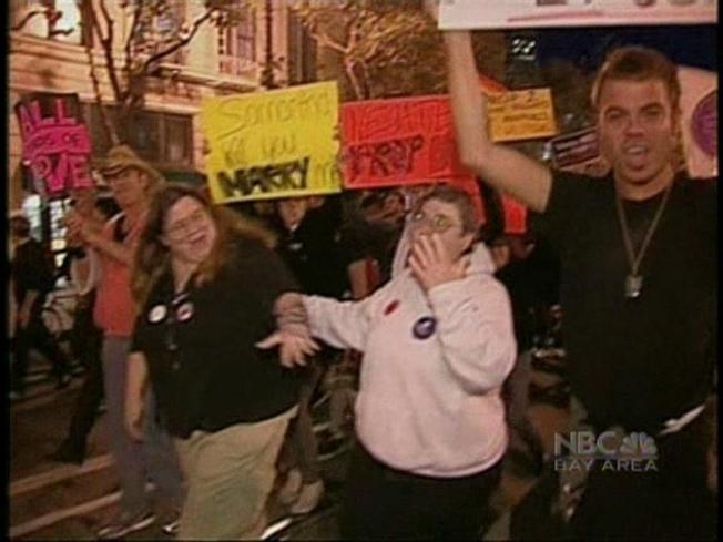 Thousands March Down Market in Support of Gay Marriage