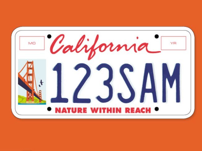 Golden Gate Bridge License Plates Nixed