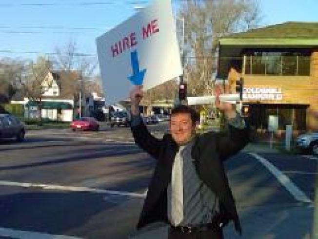 """Hire Me"" Man Takes Job Hunt to Streets"