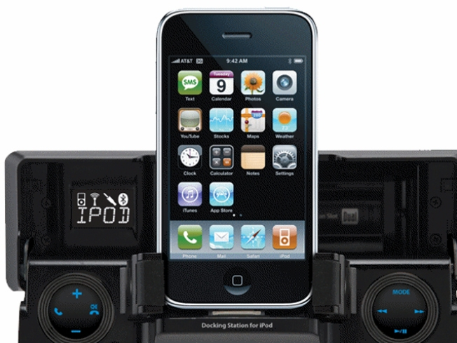 A Flip-Down iPhone Dock for Your Car