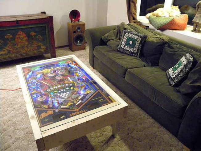 Turn an Old Pinball Machine Into a Badass Coffee Table