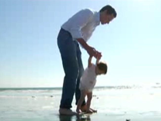 Newsom Plays Dad Card in New Ad