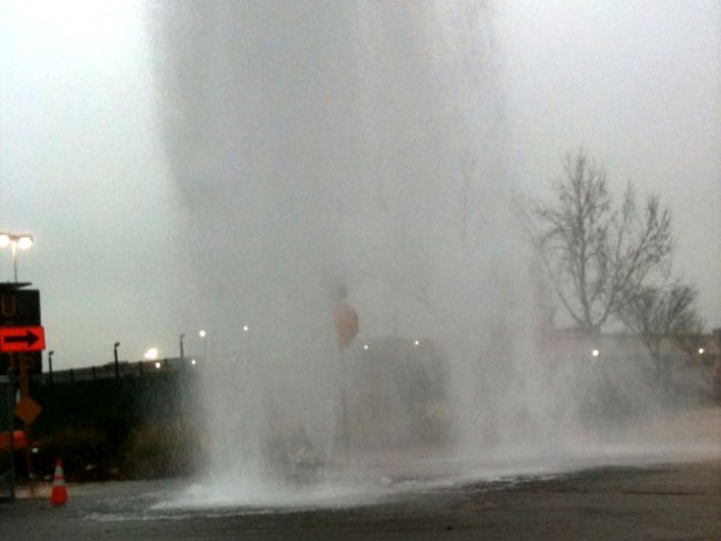 Busted Fire Hydrant Floods Bay Area Intersection