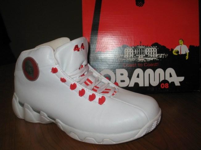 "Brooklyn Man Peddles ""Obama"" Sneakers"