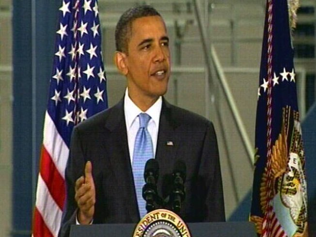 Obama Visits Solar Cell Facility