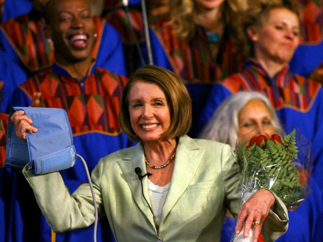 Nancy Pelosi Goes to Church