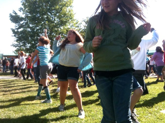 Pleasanton School Yard Turns Into Flash-Mob Scene