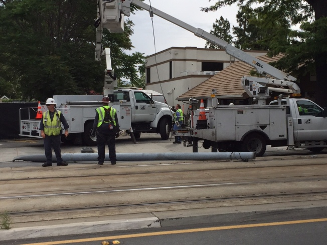 VTA Light Rail Service Restored After Van Crashes Into Pole
