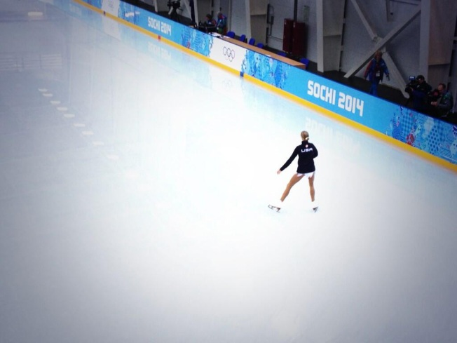 Polina Edmunds Tests Out Ice Rink in Sochi