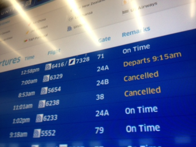 East Coast Snow, SFO Cancels Flights