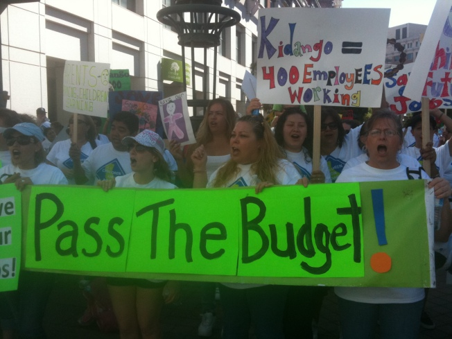 Child Care Shuts Down in Budget Protest