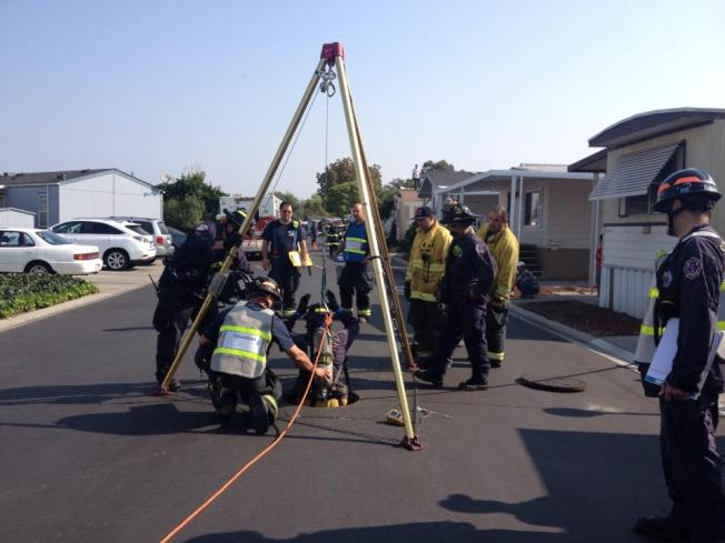 San Jose Fire Crews Sent to Rescue Woman Possibly Trapped in Manhole in Mobile Home Park