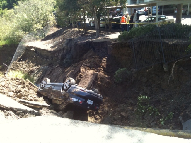 Massive Sinkhole Devours Road, Cars