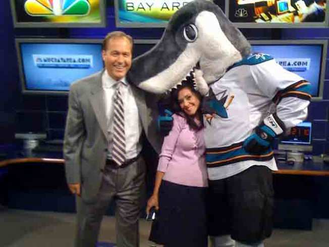 Sharkie Drops by the Newsroom